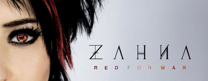 ZAHNA IS 'RED FOR WAR' WITH ROCKFEST RECORDS SOLO DEBUT